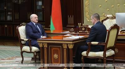 Александр Лукашенко принял с докладом губернатора Могилевской области