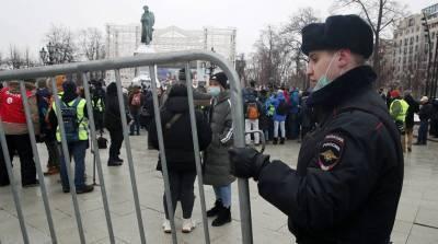 Более 600 человек задержаны за участие в несанкционированной акции в Москве