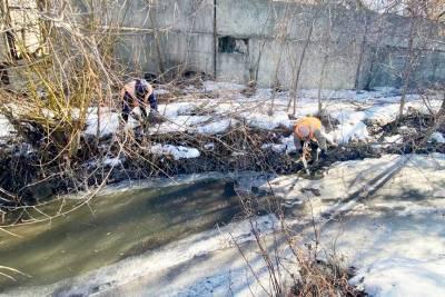 В Липецке готовятся к паводку. Из зон возможного подтопления вывозят мусор и вырубают поросли