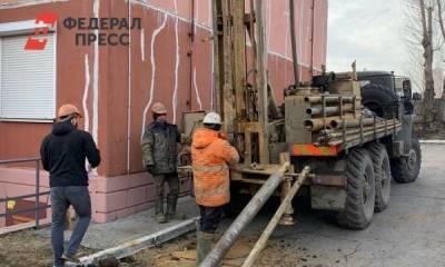 Власти Челябинска провели обследование грунта рядом с домом, где образовался провал
