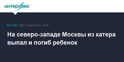 На северо-западе Москвы из катера выпал и погиб ребенок