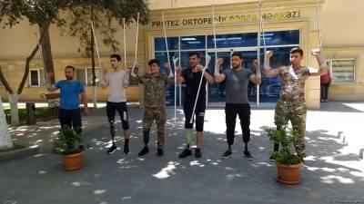 Азербайджанское государство продолжает заботиться о раненых участниках Отечественной войны (ВИДЕО)