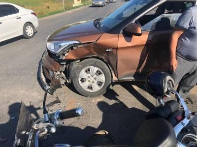 В Уфе под колеса иномарки попал мотоциклист