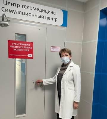В Ленинградской областной клинической больнице открыли временный участок для голосования